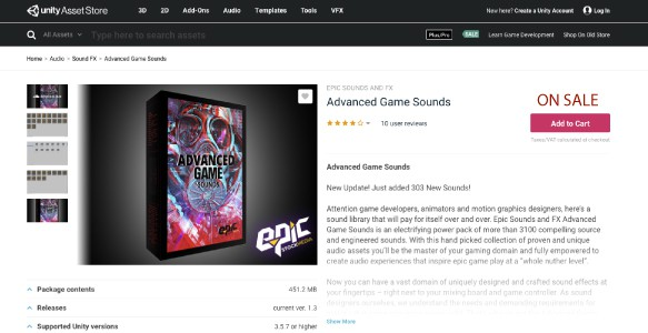 advanced game sounds Unity
