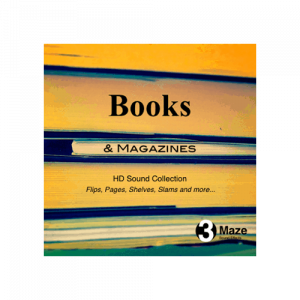 Books and Magazines - collection of Books and Magazines foley texture sound effects for games and film audio productions