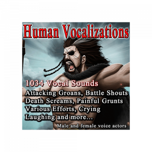 Human Vocalizations - Character Vocal sounds and effects