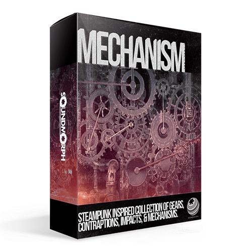 Mechanism steampunk inspired collection of gears contraptions and impact Sound Effects