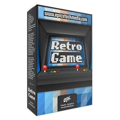 Retro Game - 8-bit old school 80's vintage Game styled audio sound effects library