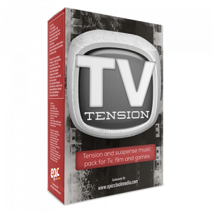 TV Tension - dark mood tension background music sound library
