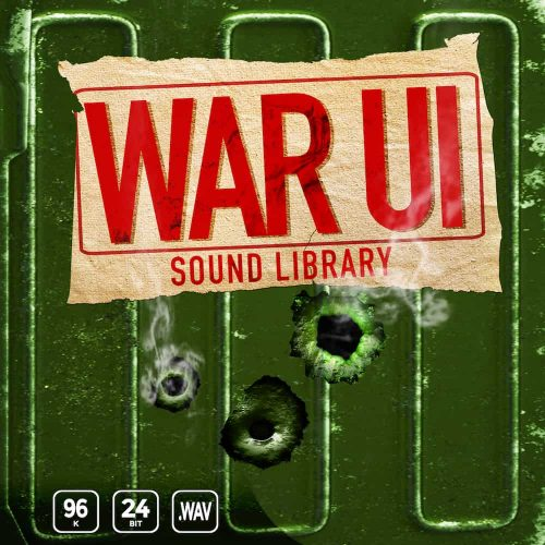 War UI sound effects library cover