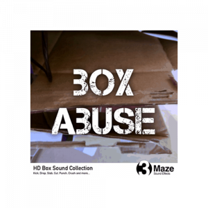 Box Abuse - Manipulation of cardboard boxes sound effect collections for games and foley studios