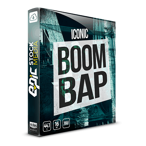 Iconic Boom Bap - old school hip hop Drum Samples power pack