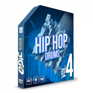 Iconic Hip Hop Drums Vol. 4 - robust old school styled drums sample packs
