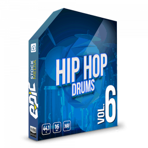 Iconic Hip Hop Drums Vol. 6 - robust old school styled drums sample packs