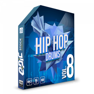 Iconic Hip Hop Drums Vol. 8 - robust old school styled drums sample packs