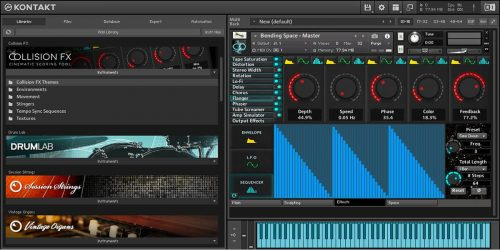 Komplete Kontrol Collision FX Effects Step Sequencer Page NKS Kontakt Plugin