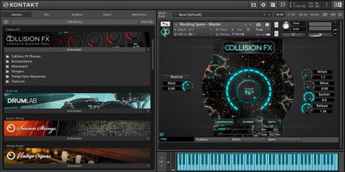 Komplete Kontrol Kontakt 5 Collision FX Main Destruction Page NKS Kontakt Plugin