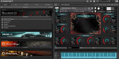 Komplete Kontrol Collision FX Sculpting Audio Page NKS Kontakt Plugin