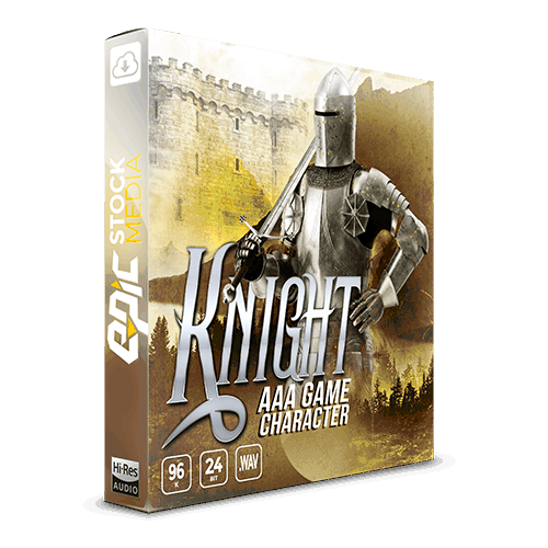 AAA Game Character Knight voice sound effects library box