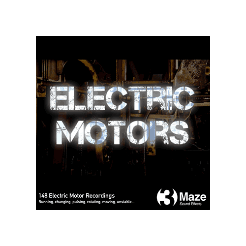 3 maze electric motors sound effects library cover