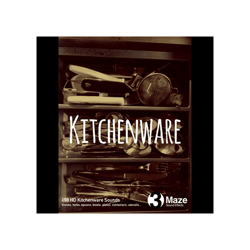 3 maze kitchenware sound effects library cover
