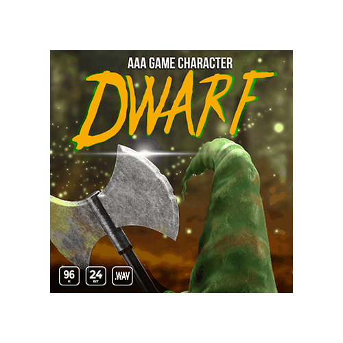 AAA Game Character Dwarf voice sound effects library cover