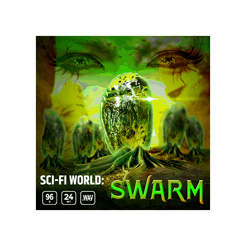 Sci-fi World Swarm game ambience loop sound effects library cover
