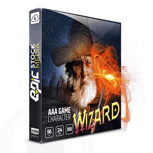 aaa game character wizard voice sound effects box