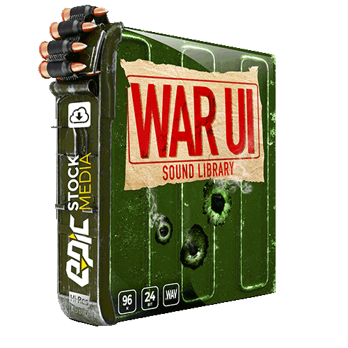 war ui - sound effect library for military interface sounds