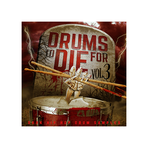 Drums to Die For Cover V3 Dark Hip Hop Drum Samples