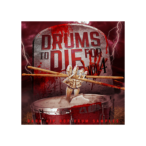 Drums to Die For Cover V4 Dark Hip Hop Drum Samples