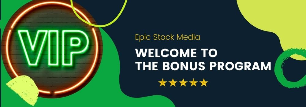 Join the loyalty VIP club at epic stock media to get special fx, sound effects, promo, coupons saving and more